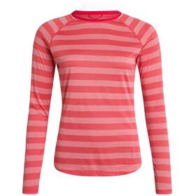 Berghaus Stripe Tech 2.0 SS Crew T-shirt Dames, cayenne/vaporous grey